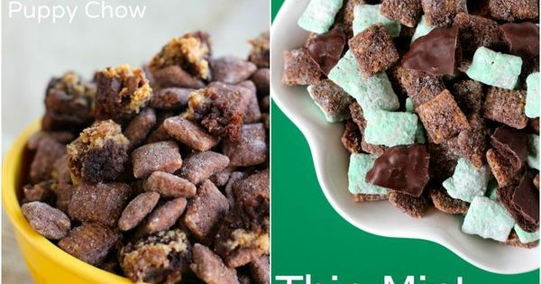 Puppy Chow Recipes! Put this puppy chow in a jar or container