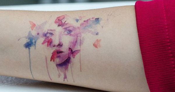 55+ Examples of Watercolor Tattoo | Cuded Very subtle shading to achieve