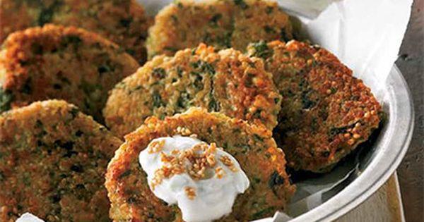 Recette Croquettes de quinoa, sauce au yogourt et au citron - Coup