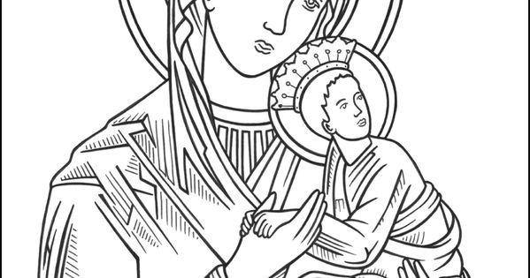 Our Lady of Perpetual Help Coloring