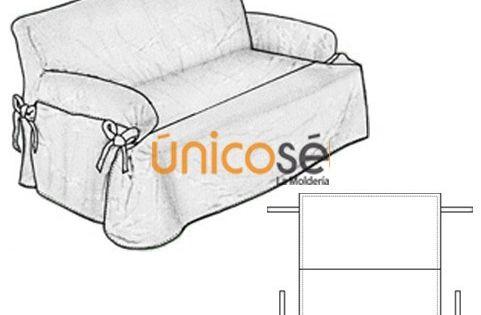 Funda sill n 2 cuerpo costura pinterest diy y for Cobertores para muebles de sala