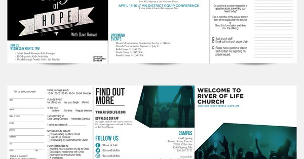 Church Bulletin done by 320 Creative for River of Life Church in - church bulletin template