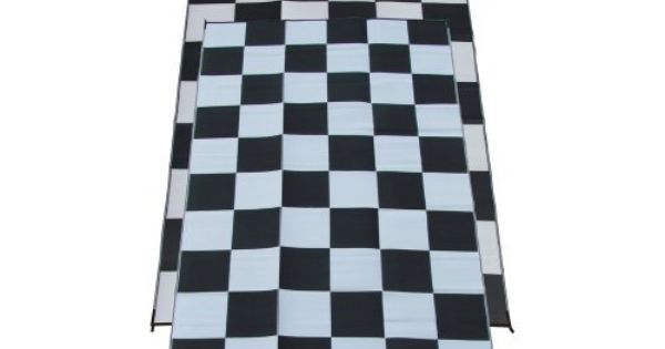 Racing Checks Checkered Flag Mat Rug Size Runner 9 X 18