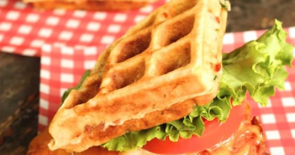 waffles buttermilk fried chicken fried deep fried chicken with cheesy ...