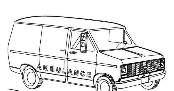 ambulance coloring pages free for kids enjoy coloring