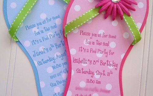 flip flop invitations so cute karten pinterest geburtstag juwelen und duschen. Black Bedroom Furniture Sets. Home Design Ideas