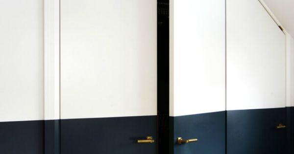Tendance peindre ses murs moiti murs bleu fonc for Peindre ses murs