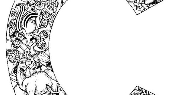 intricate alphabet coloring pages eggs - photo#24