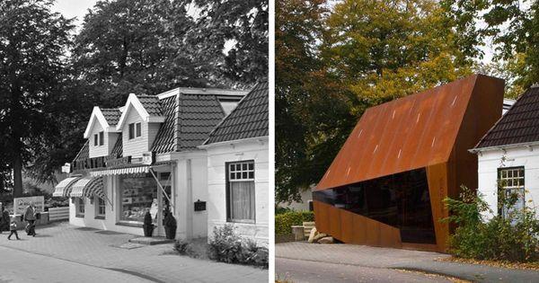 Pand aan de weerdingerstraat emmen de voor en na foto tja architectuur smaken verschillen - Architectuur staal corten ...