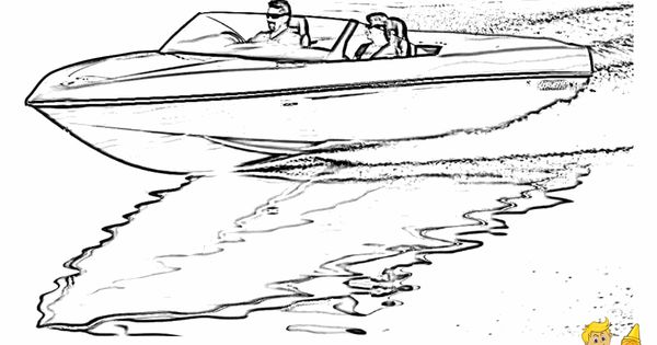 Coloring Page Of Speed Boat Free Sharp Ships Boats