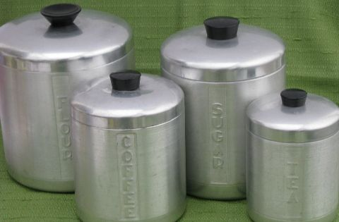 Kromex Vintage Spun Aluminum Canister Jar Set My Mom Has