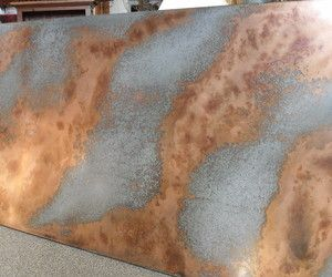 Distressed Galvanized And Copper Technique Galvanized Sheet Metal Galvanized Metal Wall Galvanized Sheet