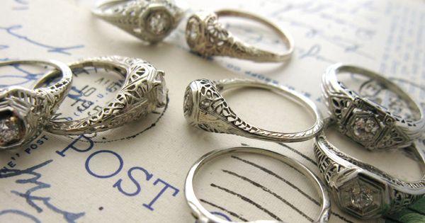 vintage heirloom rings