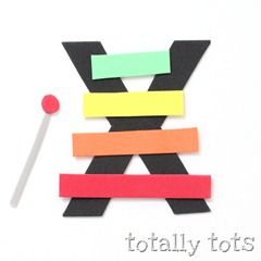 Totally Tots Now I Know My Abc S X Is For Xylophone Letter A Crafts Preschool Letter Crafts Alphabet Crafts