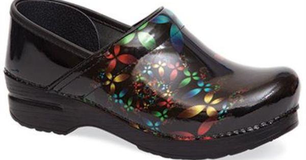 Nursing Shoes Dansko Scatter Floral Professional Clog Scrubs We Love Pinterest Nursing