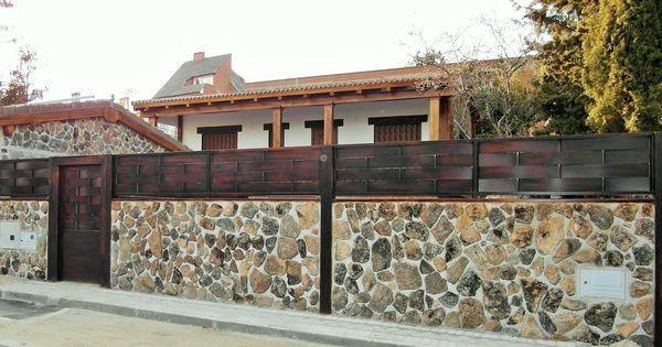 Cerramiento con piedra de musgo y acero casas - Cerramientos casas ...