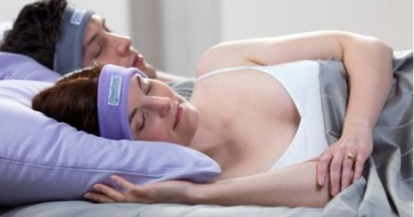 "Comfortably listen to anything in bed without disturbing your partner with ""SleepPhones"""