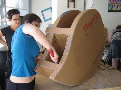 9 Limage Et Finition De La Structure Meuble En Carton Mobilier De Salon Et Carton