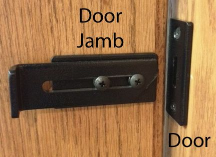 Sliding Barn Door Locking Latch To Ensure Privacy For Bathroom