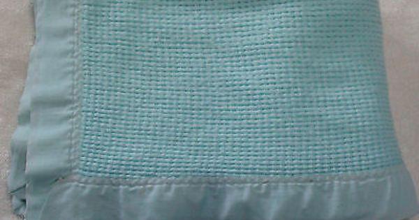 Baby Morgan Aqua Green Acrylic Waffle Weave Baby Blanket