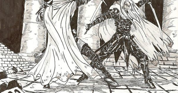 Drow Ranger S Mania S Mask Immortal: Drizzt Vs Artemis Entreri By Darthcetus.deviantart.com On