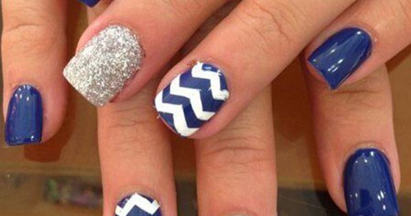 If you were looking for a blue version of the nail design