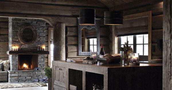 Foto Dello Chalet Pearl A Courchevel : Modern log cabin fina stugor pinterest saunas