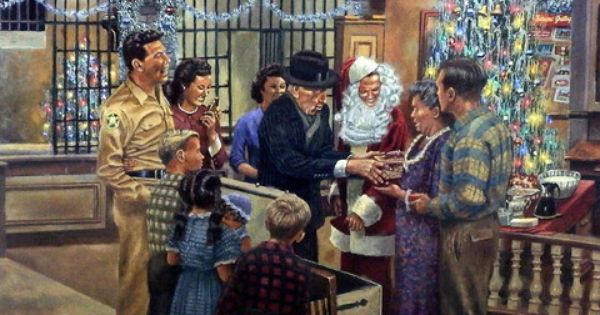 Dave Barnhouse A Mayberry Christmas Christmas Art Wildlife Art Andy Griffith