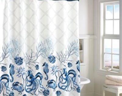 Octavia Shower Curtain Www Bedbathandbeyond Com Blue Shower