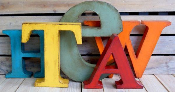 Letras decorativas la factoria plastica letras - La factoria plastica ...