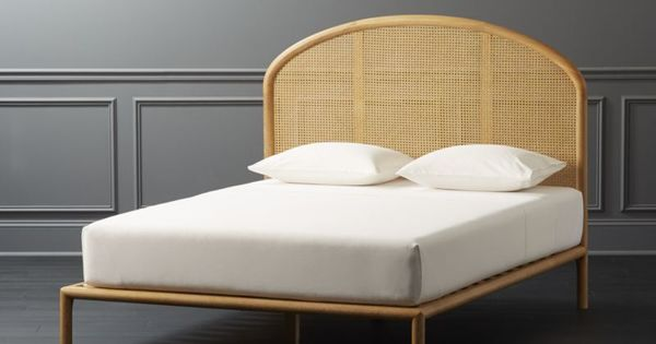 Shop Bobila Cane Bed Queen Subtle Whitewash Meets Airy Cane Weaving To Remind Us Of Sleeping With The Windows Cane Bed Bed Frame And Headboard Caned Headboard