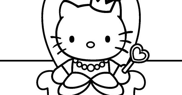 Hello Kitty Coloring Pages With Crayons : Coloring page from http loringpages u hello