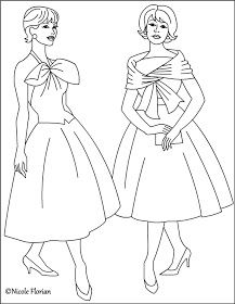 Nicole S Free Coloring Pages Vintage Fashion Coloring Pages Fashion Coloring Book Coloring Books Vintage Coloring Books
