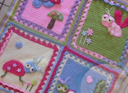 Crochet For Children My Garden Bug Blanket Free Pattern