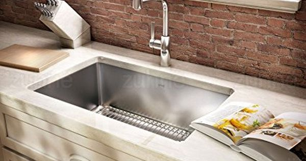 Zuhne 32 Inch Undermount Deep Single Bowl 16 Gauge Stainless Steel Kitchen S Farmhouse Sink Kitchen Stainless Steel Kitchen Sink Undermount Corner Sink Kitchen