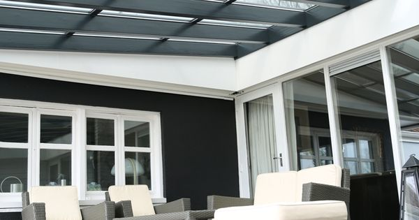 Overdekt terras met transparante zonnepanelen sanko solar terrasoverkapping pinterest - Dekzeil transparante terras ...