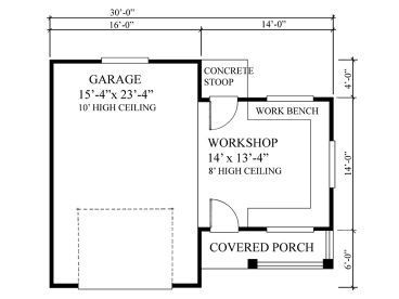 Plan 010g 0005 Garage Plans And Garage Blue Prints From The Garage Plan Shop Garage Workshop Plans Rv Garage Garage Plan