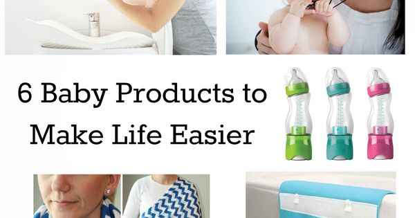 6 New Genius Baby Products - I love the nursing scarf, bottles,
