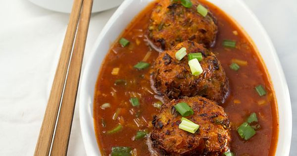 Veg Recipes of Indiaveg balls in hot garlic sauce recipe, indo chinese