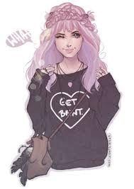 Resultado De Imagen Para Rosa Tumblr Dibujo Ilustraciones De Chicas Dibujos Dibujos De Personas