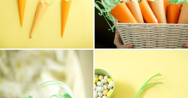 Paper Carrots for Easter baskets! I'm so making some of these this