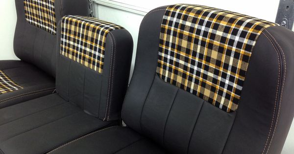 Chevy C10 custom stitched bucket seats in leather and ...