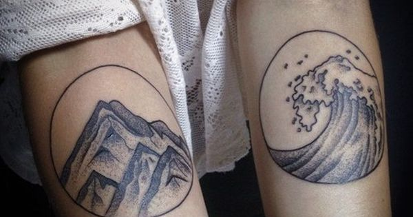 Rock and water tattoo