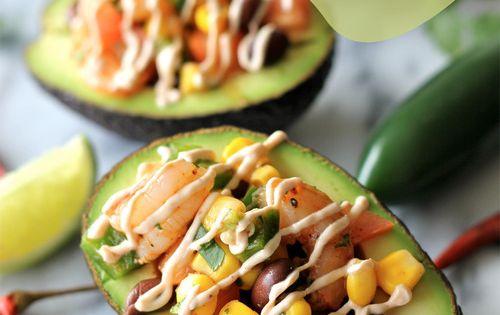 Chipotle Shrimp Stuffed Avocados avocado avocado recipes avocado dish super food
