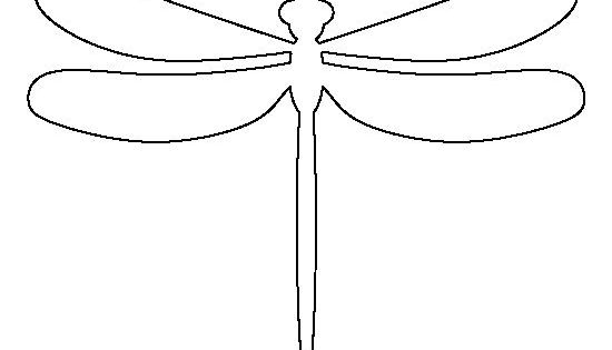 Dragonfly pattern. Use the printable outline for crafts ...