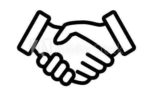 40+ Handshake Clipart Black And White