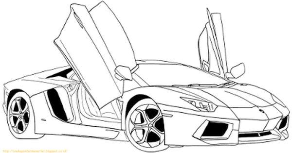 Aneka Gambar Mewarnai 10 Gambar Mewarnai Mobil Lamborghini Untuk