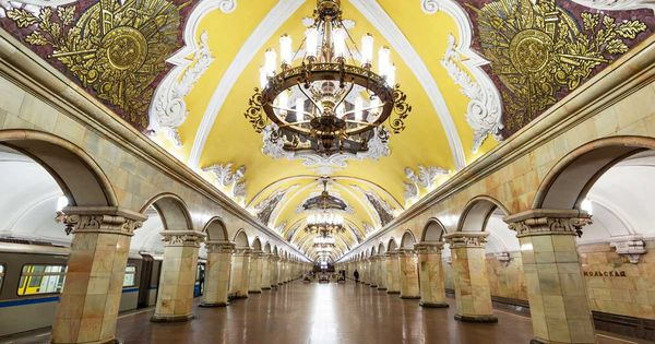 Moscow S Most Beautiful Subways Moscow Metro Russia Travel Metro Station