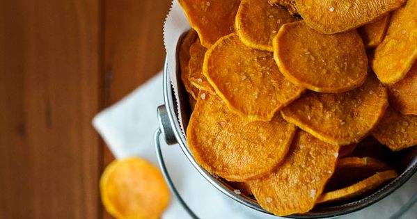 Sweet Potato Chips | just three ingredients: sweet potatoes, olive oil and