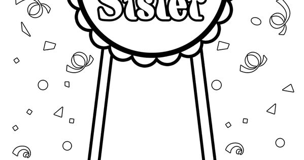 free downloadable coloring pages for big sisters | Big Sister Coloring Page | Big Sister | Pinterest | Babies ...